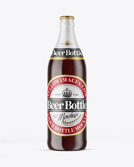 Download Clear Glass Ale Bottle Mockup PSD - Free PSD Mockup Templates