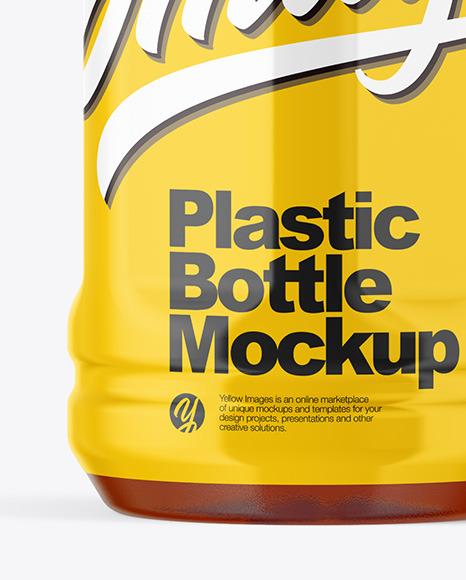 Tea Plastic Bottle Mockup