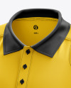 Men's Club Polo Shirt mockup (Half Side View)