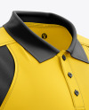 Men's Club Polo Shirt mockup (Right Half Side View)
