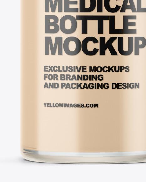 Glass Medical Bottle Mockup