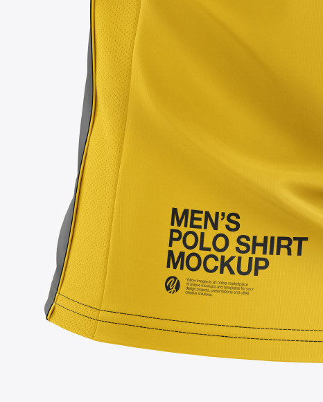 Men's Club Polo Shirt mockup (Back Half Side View)