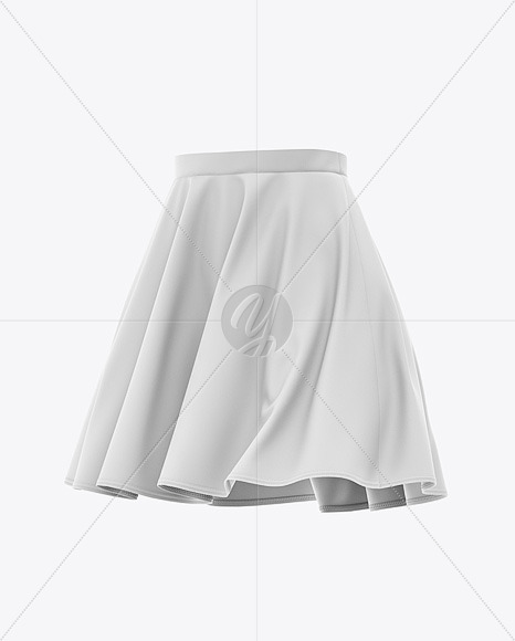 Skater Skirt Mockup - Front Half-Side View