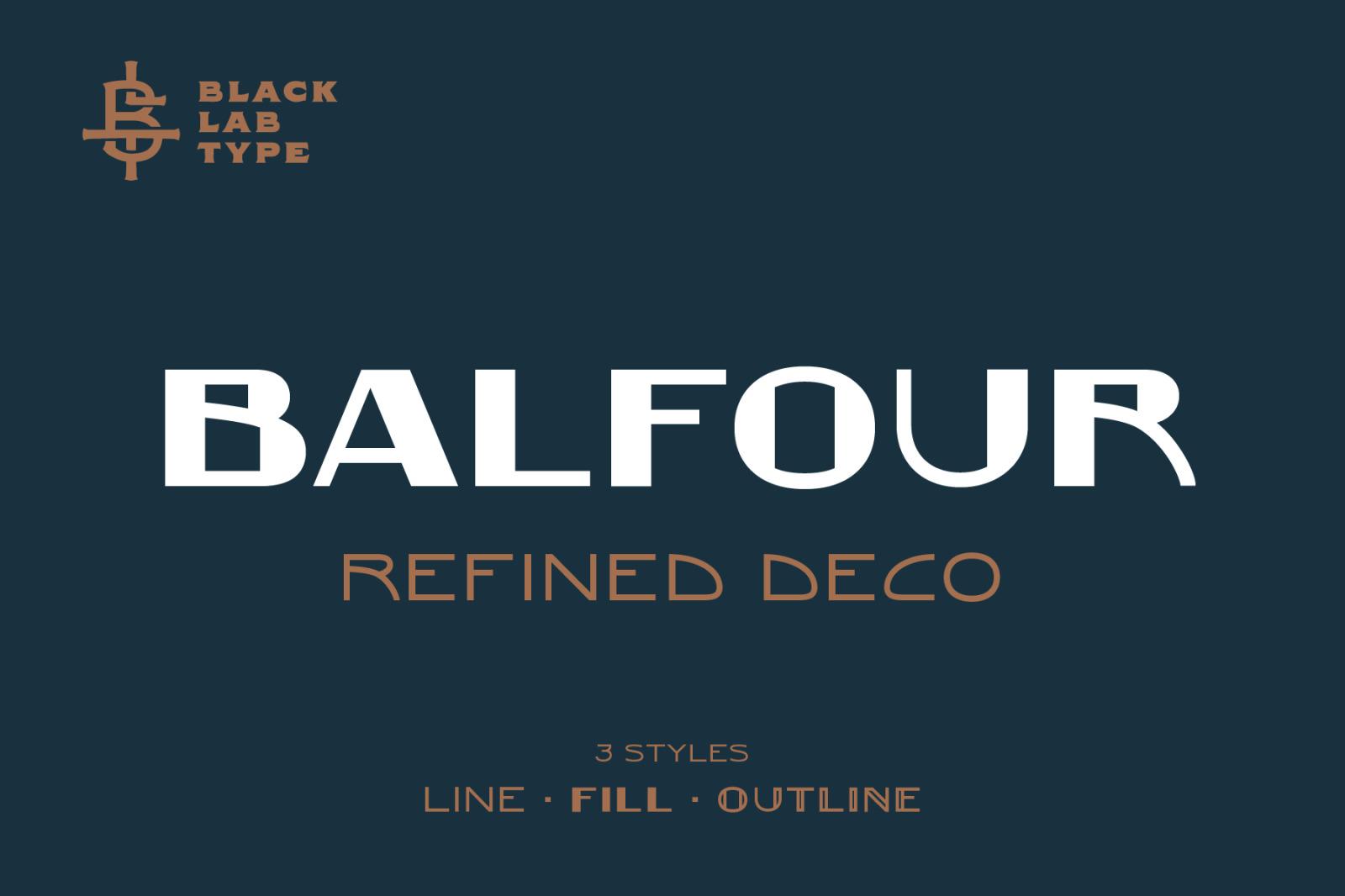 Balfour: Art Deco Revival Font