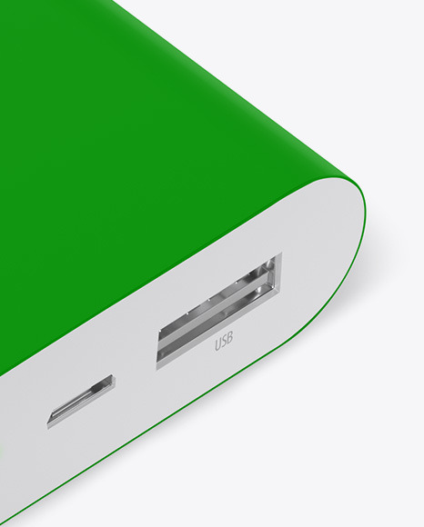 Matte Power Bank Mockup - Front View