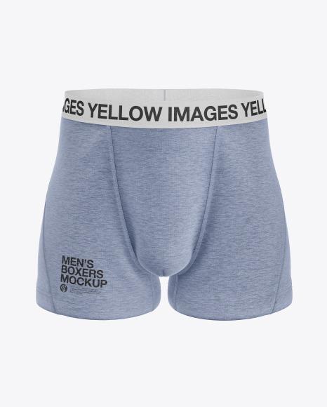 Melange Men's Boxer Briefs Mockup