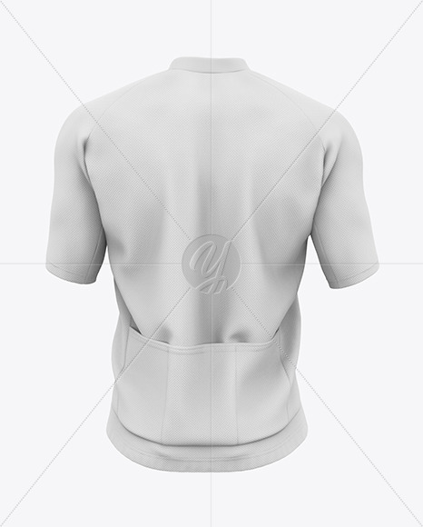 Men's Short Sleeve Full-Zip Jersey Mockup