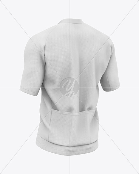 Men's Short Sleeve Full-Zip Jersey Mockup