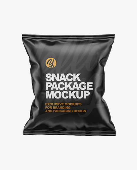Download Matte Snack Package Mockup Front View PSD - Free PSD Mockup Templates