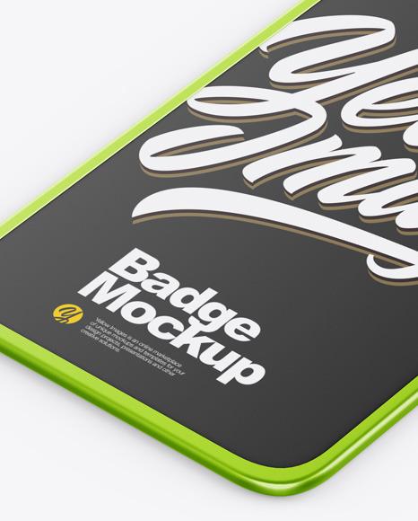 Metallic Badge Holder Mockup