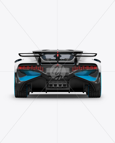 Download Super Car Mockup Back View In Vehicle Mockups On Yellow Images Object Mockups PSD Mockup Templates