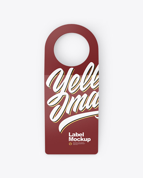 Bottle Tag Mockup - Front View