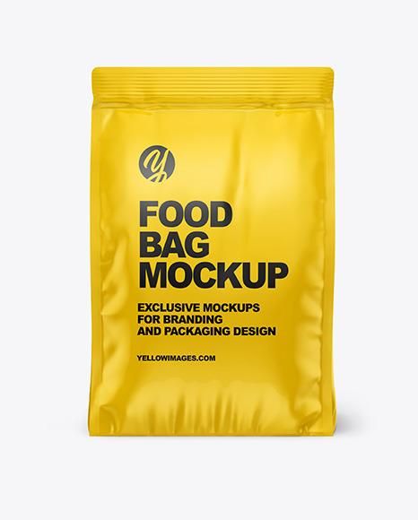 Glossy Food Bag Mockup