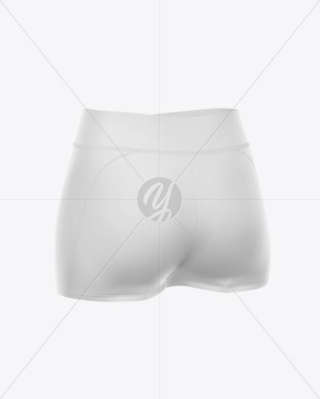 Women's Sport Shorts Mockup - Back Half-Side View