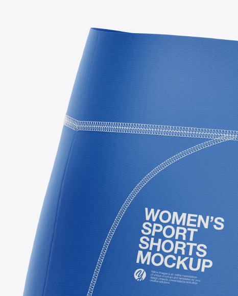 Women's Sport Shorts Mockup - Back Half-Side View