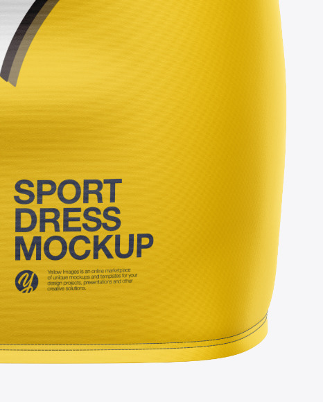 Women's Sport Dress Mockup - Front View