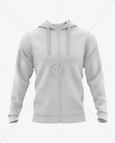 Download Men S Full Zip Hooded Sweatshirt Mockup In Apparel Mockups On Yellow Images Object Mockups