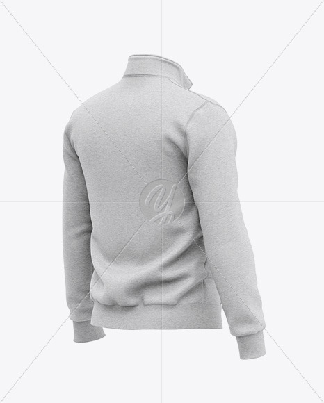 Download Heather Three Quarter Zipped Sweatshirt Mockup Front Half Side View Of Zipped Pullover Yellowimages