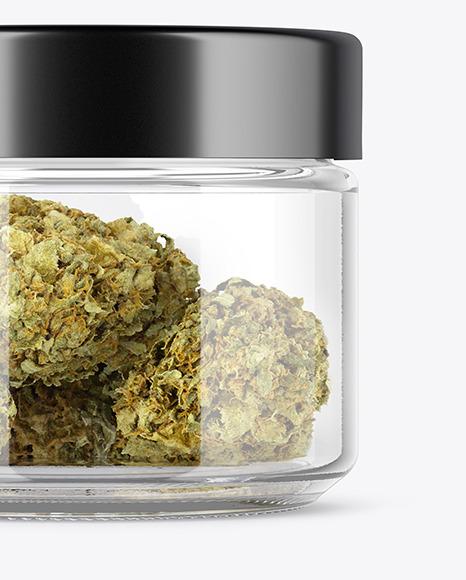 Weed Buds Jar Mockup