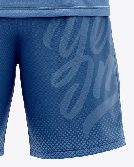 Men's Long Sleeve Soccer Kit Mockup - Front View