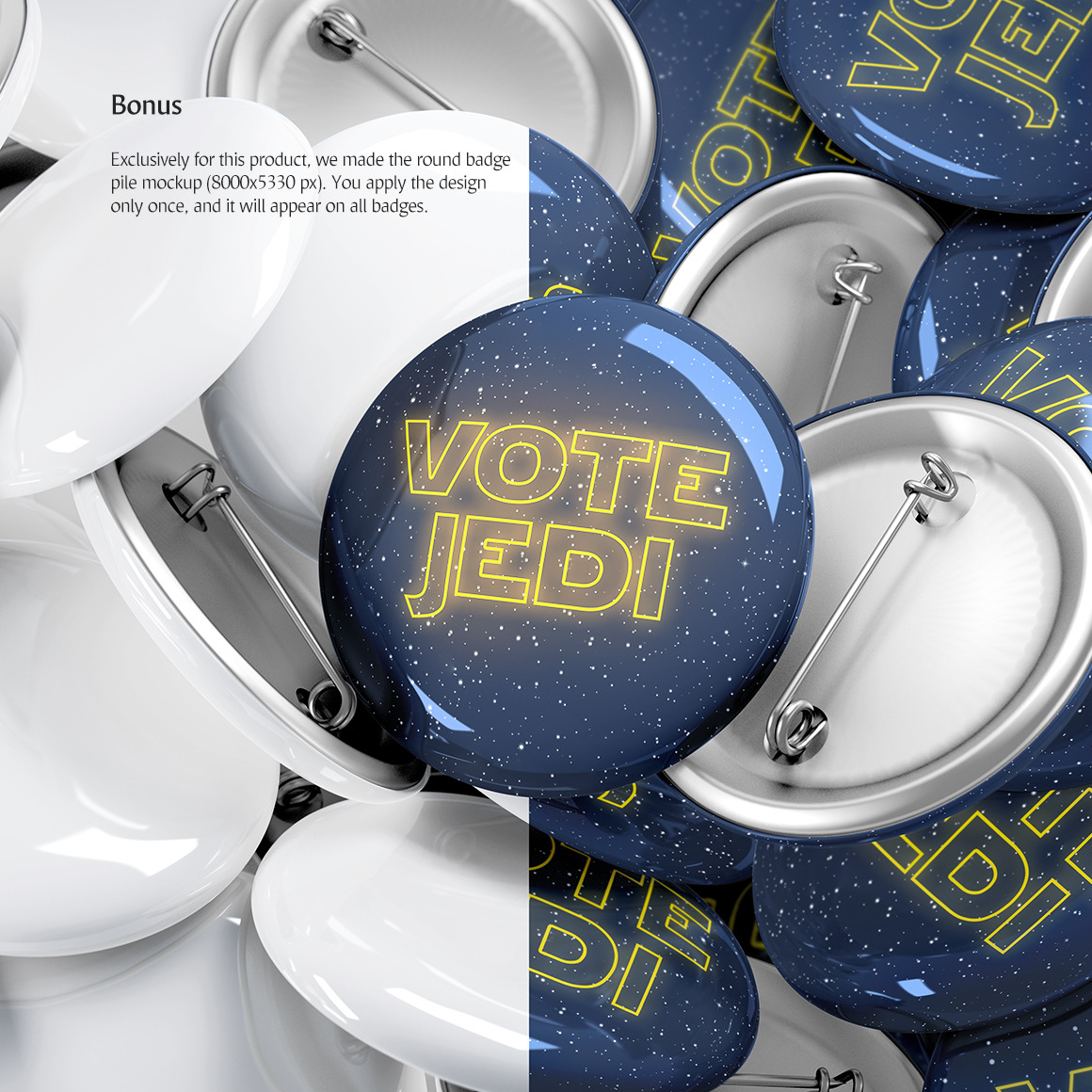 Round Button Badge Mockup