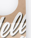 Kraft Bottle Tag Mockup - Front View
