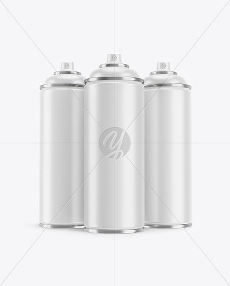 3 Matte Spray BottlesMockup