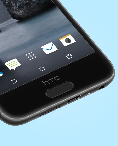 Carbon Gray HTC A9 Phone Mockup