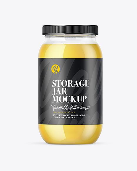 Ghee Glass Storage Jar Mockup