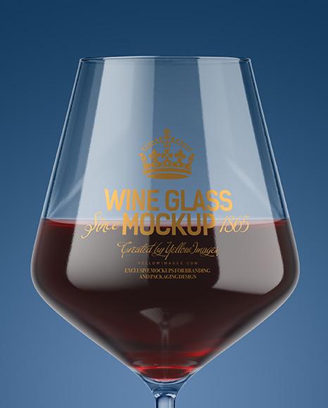 Red Wine Glass Mockup