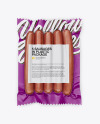 5 Smoked Sausages Pack Mockup