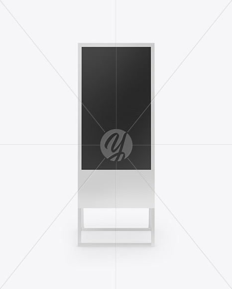 Digital Banner Stand Mockup - Front View