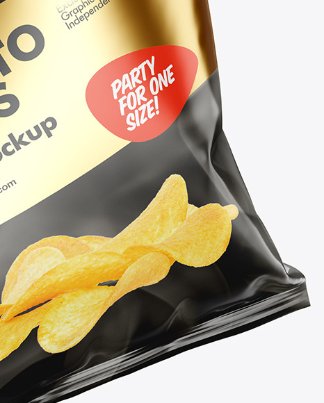 Glossy Bag w/ Chips Mockup