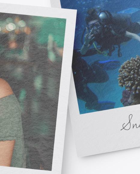 Textured Snapshots w/ Pins Mockup