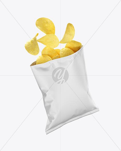 Matte Bag w/ Chips Mockup