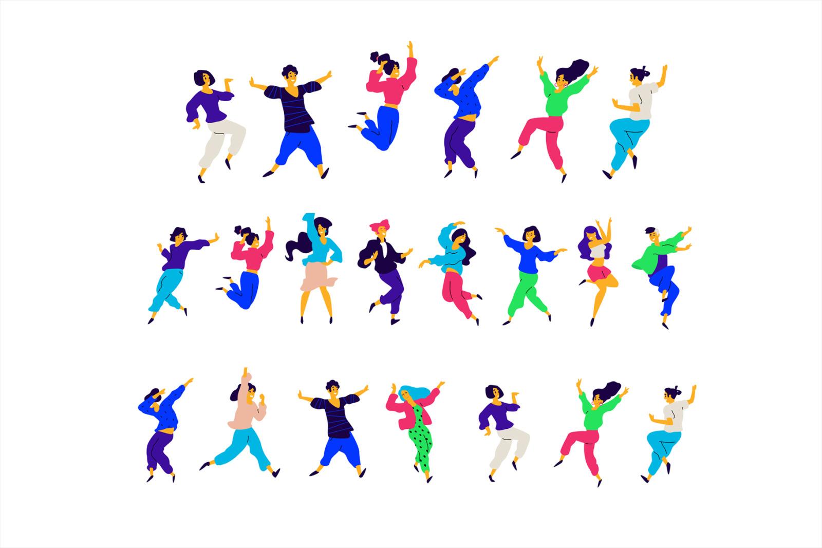 15 Dancing people