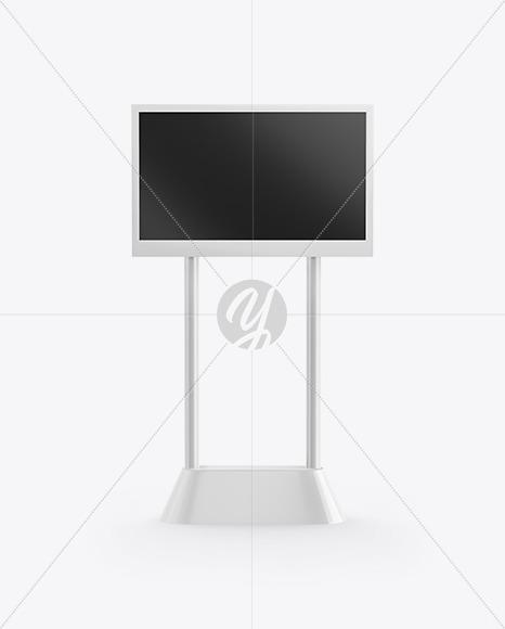 LED Digital Banner Stand Mockup - Front View