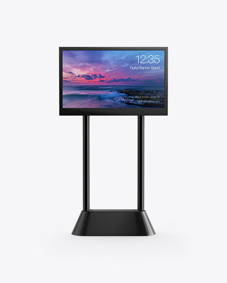 LED Digital Banner Stand Mockup - Front View