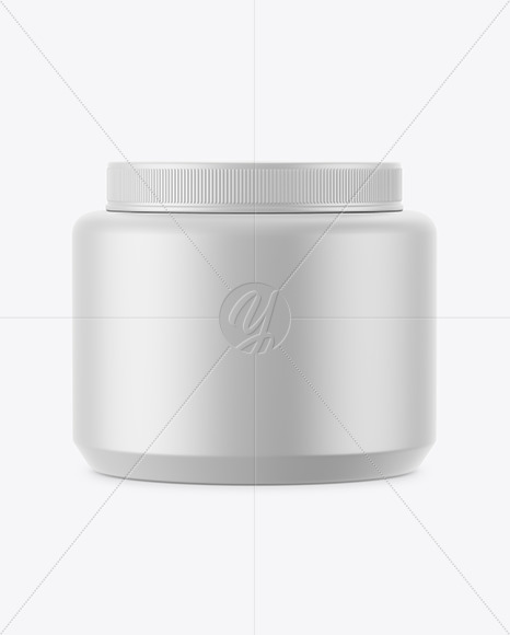 Matte Hair Gel Jar Mockup
