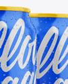 Three Glossy Cans Mockup