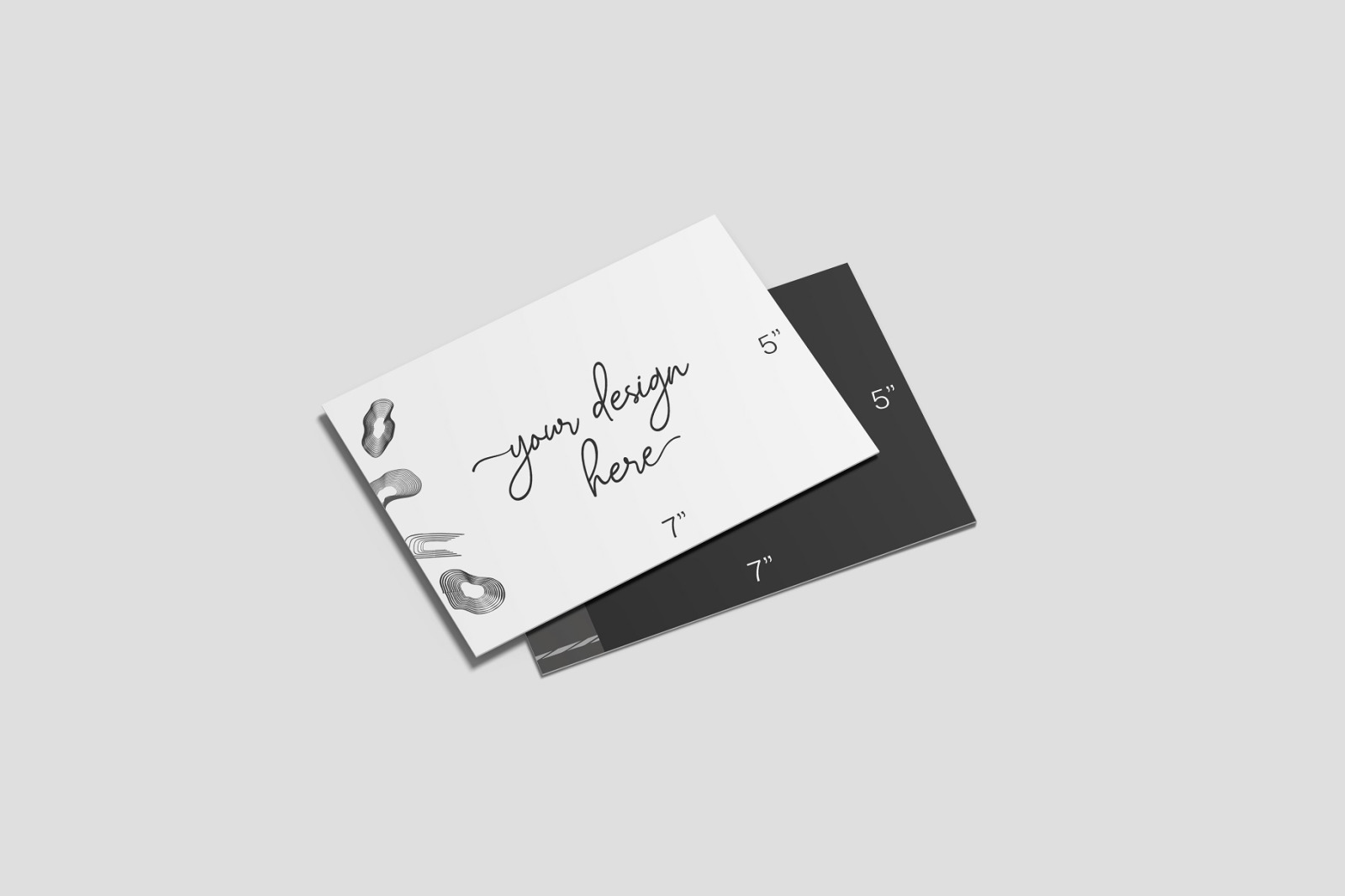 5x7 Inches Postcard and Envelope Mockups