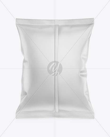 Matte Snack Package Mockup - Back View