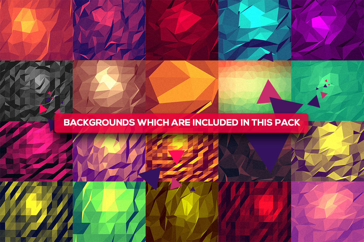 75 Vector Geometric Backgrounds