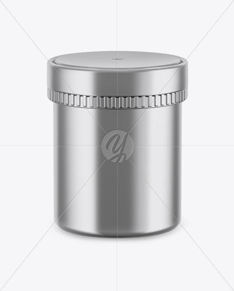 Metallic Jar Mockup