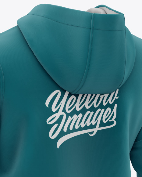 Men's Full-Zip Hooded Sweatshirt Mockup