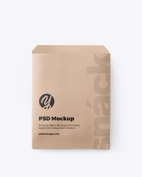 Download Paper Snack Pack Mockup In Packaging Mockups On Yellow Images Object Mockups PSD Mockup Templates