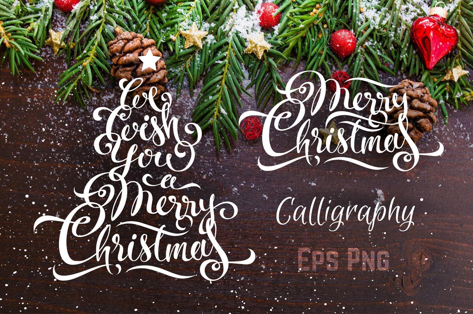 Merry Christmas Calligraphy