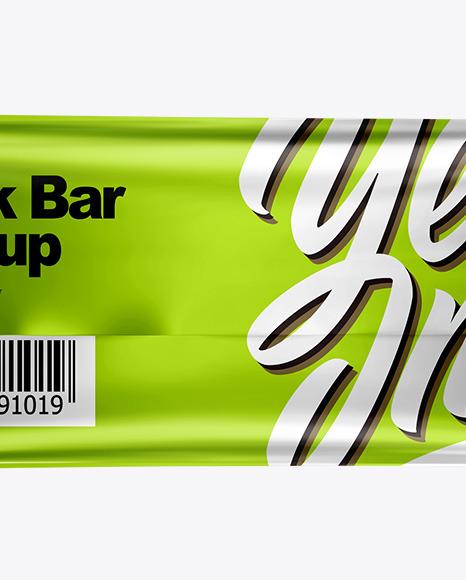 Metallic Snack Bar Mockup - Back View