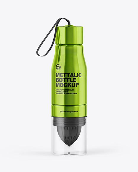 Download Steel Water Bottle PSD Mockup