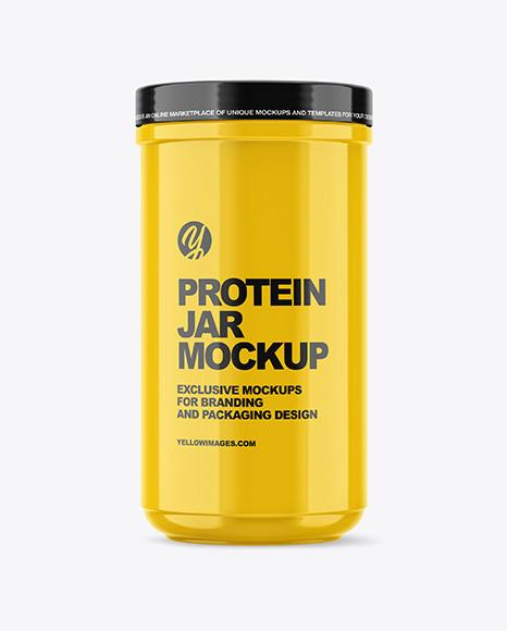 Download Glossy Protein Jar PSD Mockup